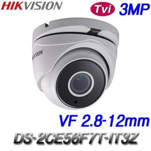 Camera HIKVISON DS-2CE56F7T-IT3Z (HD-TVI 3M)